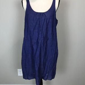 Women's Sz PL Eileen Fisher Blue Slvls Tank dress